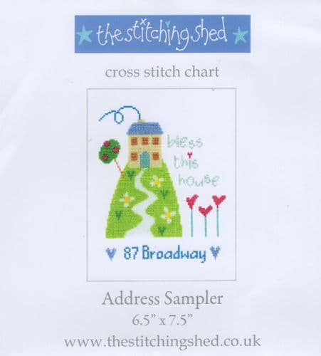 """Address Sampler"" Counted Cross Stitch Chart Pack"