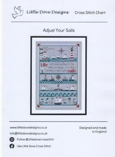 """Adjust Your Sails"" Counted Cross Stitch Chart Pack"