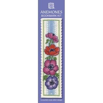 """Anemones"" Bookmark Counted Cross Stitch Kit"