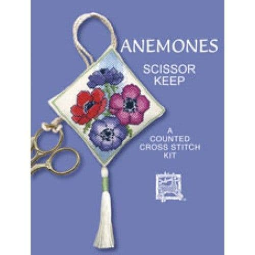 """Anemones"" Scissor Keep Counted Cross Stitch Kit"