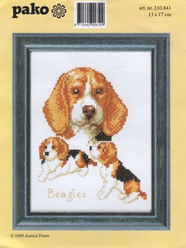 """Beagles"" Counted Cross Stitch Kit"