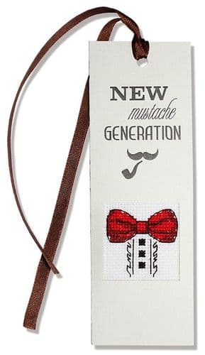 """""""Bow Tie"""" Counted Cross Stitch Bookmark Kit"""