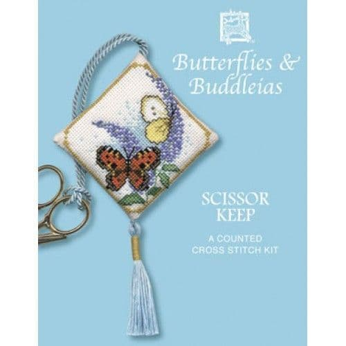 """Butterfly & Buddleias"" Scissor Keep Counted Cross Stitch Kit"