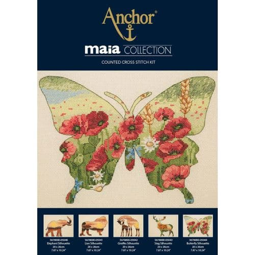 """Butterfly Silhouette"" Counted Cross Stitch Kit"
