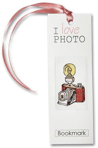 """Camera"" Counted Cross Stitch Bookmark  Kit"