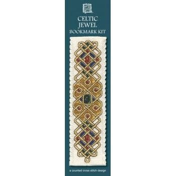 """Celtic Jewel"" Bookmark Counted Cross Stitch Kit"