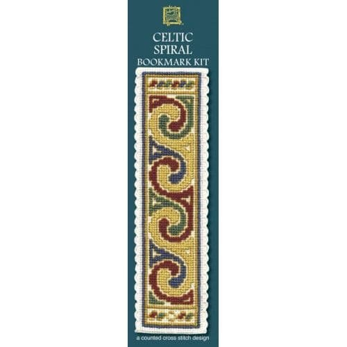 """Celtic Spiral Cream"" Bookmark Counted Cross Stitch Kit"