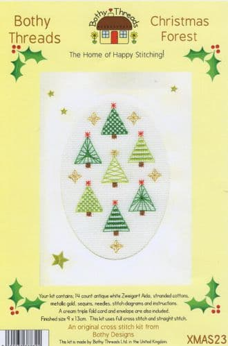 """""""Cristmas Forest"""" Counted Cross Stitch Card Kit"""