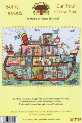 """Cut Thru' Cruise Ship"" Counted Cross Stitch Kit"