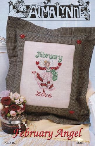 """February Angel"" Counted Cross Stitch Chart Leaflet"