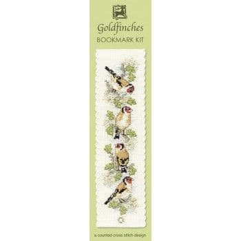 """Goldfinches"" Counted Cross Stitch Bookmark Kit"