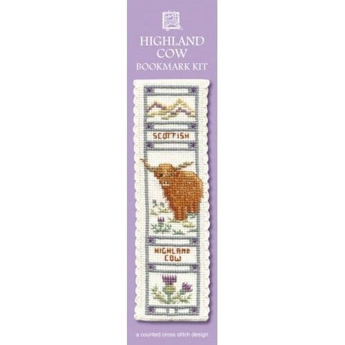 """Highland Cow"" Bookmark Counted Cross Stitch Kit"