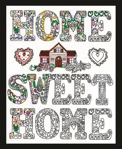 """Home Sweet Home"" Zenbroidery Kit"