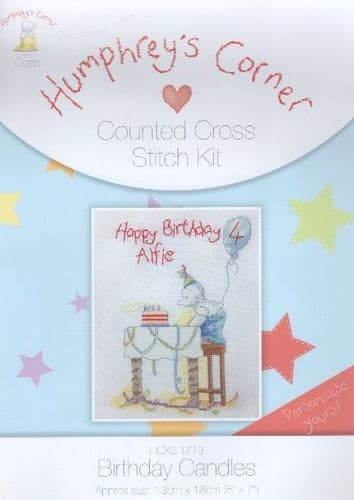 """Humphrey's Corner Candles Birth Sampler"" Counted Cross Stitch Kit"