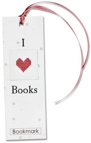 """I Love"" Counted Cross Stitch Bookmark Kit"