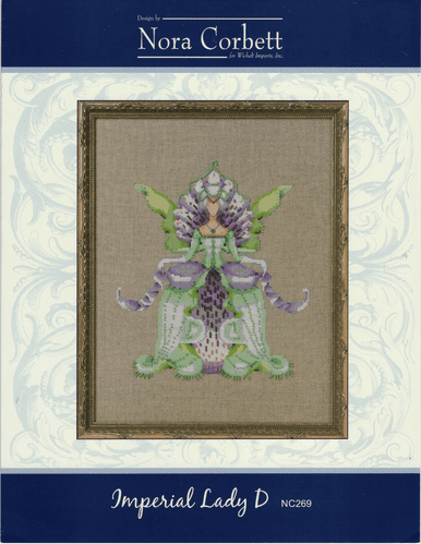"""Imperial Lady D"" Counted Cross Stitch Chart Pack by Nora Corbett"