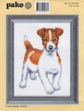 """""""Jack Russell"""" Counted Cross Stitch Kit"""