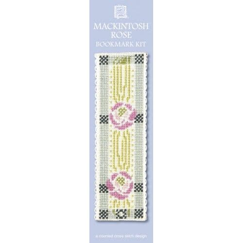 """Mackintosh Rose"" Counted Cross Stitch Bookmark Kit"