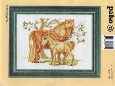 """""""Mare and Foal"""" Counted Cross Stitch Kit"""
