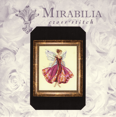 """MD108 January's Garnet Fairy"" Counted Cross Stitch Chart Pack from Mirabilia"