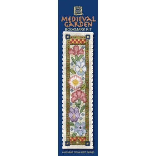 """""""Medieval Garden"""" Counted Cross Stitch Bookmark Kit"""