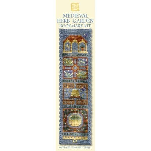 """""""Medieval Herb Garden"""" Counted Cross Stitch Bookmark Kit"""