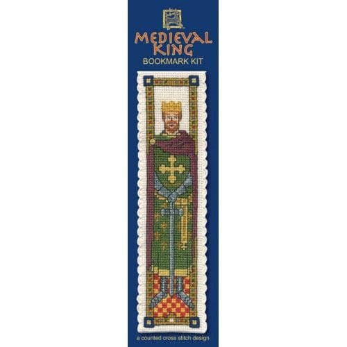 """""""Medieval King"""" Counted Cross Stitch Bookmark Kit"""