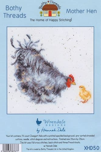 """Mother Hen"" Counted Cross Stitch Kit"