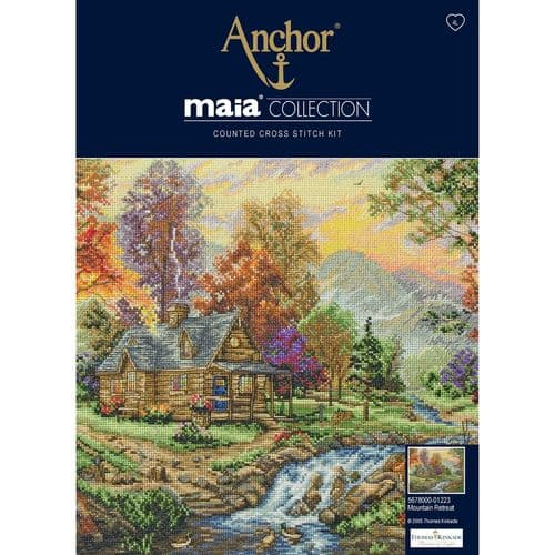 """Mountain Retreat"" Counted Cross Stitch Kit"