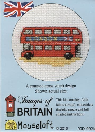 """""""Red London Bus"""" Fun Sized Counted Cross Stitch Kit"""