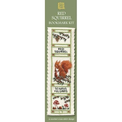 """Red Squirrel"" Bookmark Counted Cross Stitch Kit"