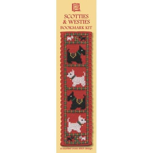 """Scotties & Westies"" Counted Cross Stitch Bookmark Kit"