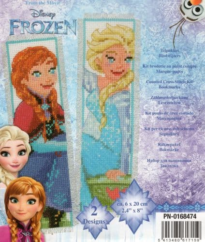 """Sisters Forever"" from Frozen Counted Cross Stitch Bookmark Kit"