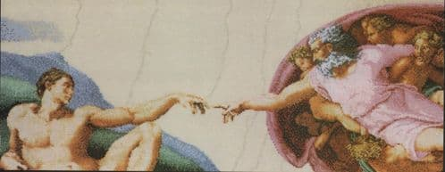 """The Creation of Adam"" counted cross-stitch chart"