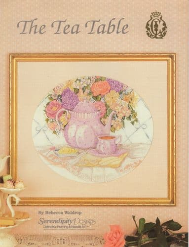 """The Tea Table"" counted cross-stitch chart"