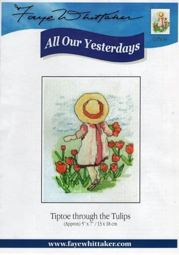 """""""Tiptoe through the Tulips"""" Counted Cross Stitch"""