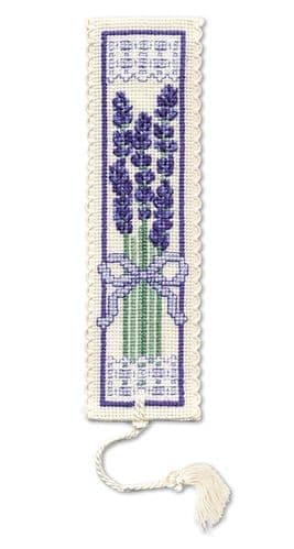 """Victorian Lavender"" Counted Cross Stitch Bookmark Kit"