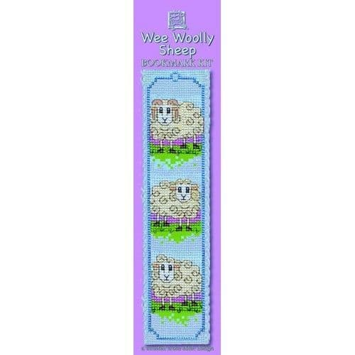 """""""Wee Woolly Sheep"""" Counted Cross Stitch Bookmark Kit"""