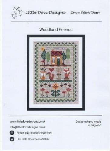 """Woodland Friends"" Counted Cross Stitch Chart Pack"