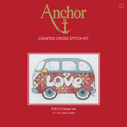 Camper Van Counted Cross Stitch Kit