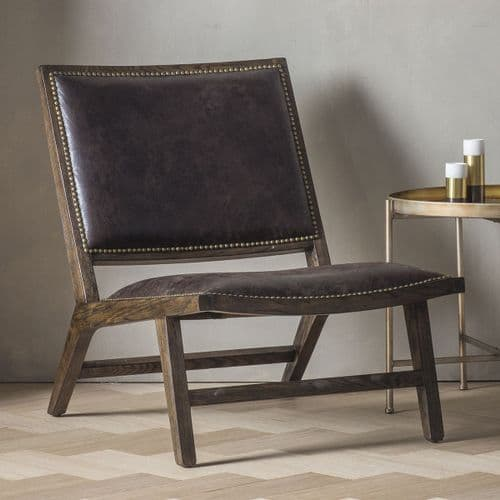 Carnaby Chocolate Leather Chair