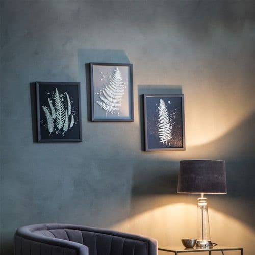 Gold fern wall art