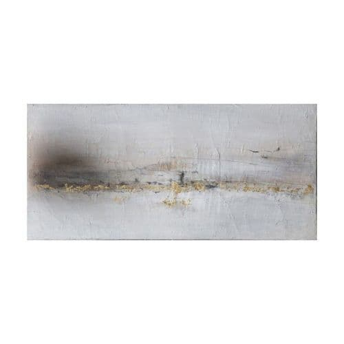 Golden coastline wall art