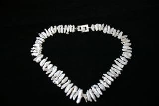 50cm White Biwa Freshwater Cultured Pearl Necklace and