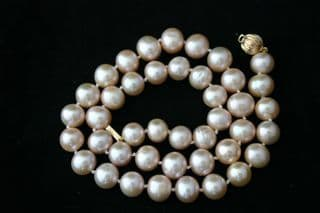 Graduated Luxury Peach Freshwater Cultured Pearl Necklace