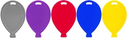 100 Single Balloon Shape Weights Primary Mix