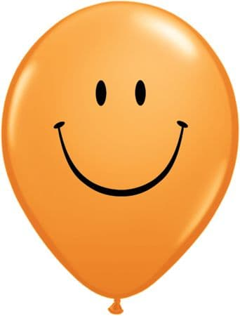 """11"""" Smile Face Latex Balloons Assorted x 50"""