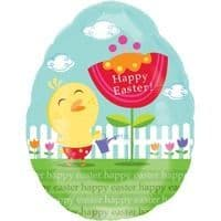 """18"""" Cute Chicky with Flower Junior Shape Foil Balloon"""