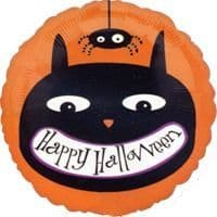 """18"""" Halloween Cat and Spider Foil Balloon"""