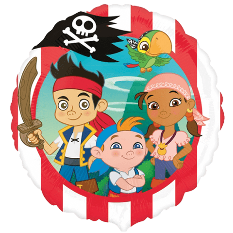 """18"""" Jake & the Neverlands Pirates Foil Balloon"""